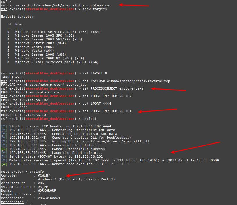 Explotando Vulnerabilidad MS17-010 o WannaCry | Juan Oliva