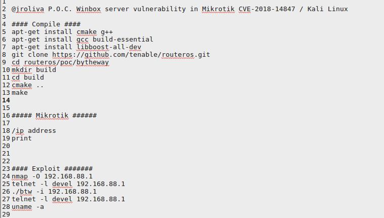 Mikrotik Winbox server vulnerability | Juan Oliva